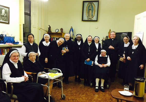 Fr Kirby and Brooklyn Visitation Sisters